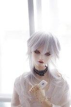 1/3 1/4 1/6 BJD Парик высокой температуры мода серебристый белый короткие волосы для bjd dollfie