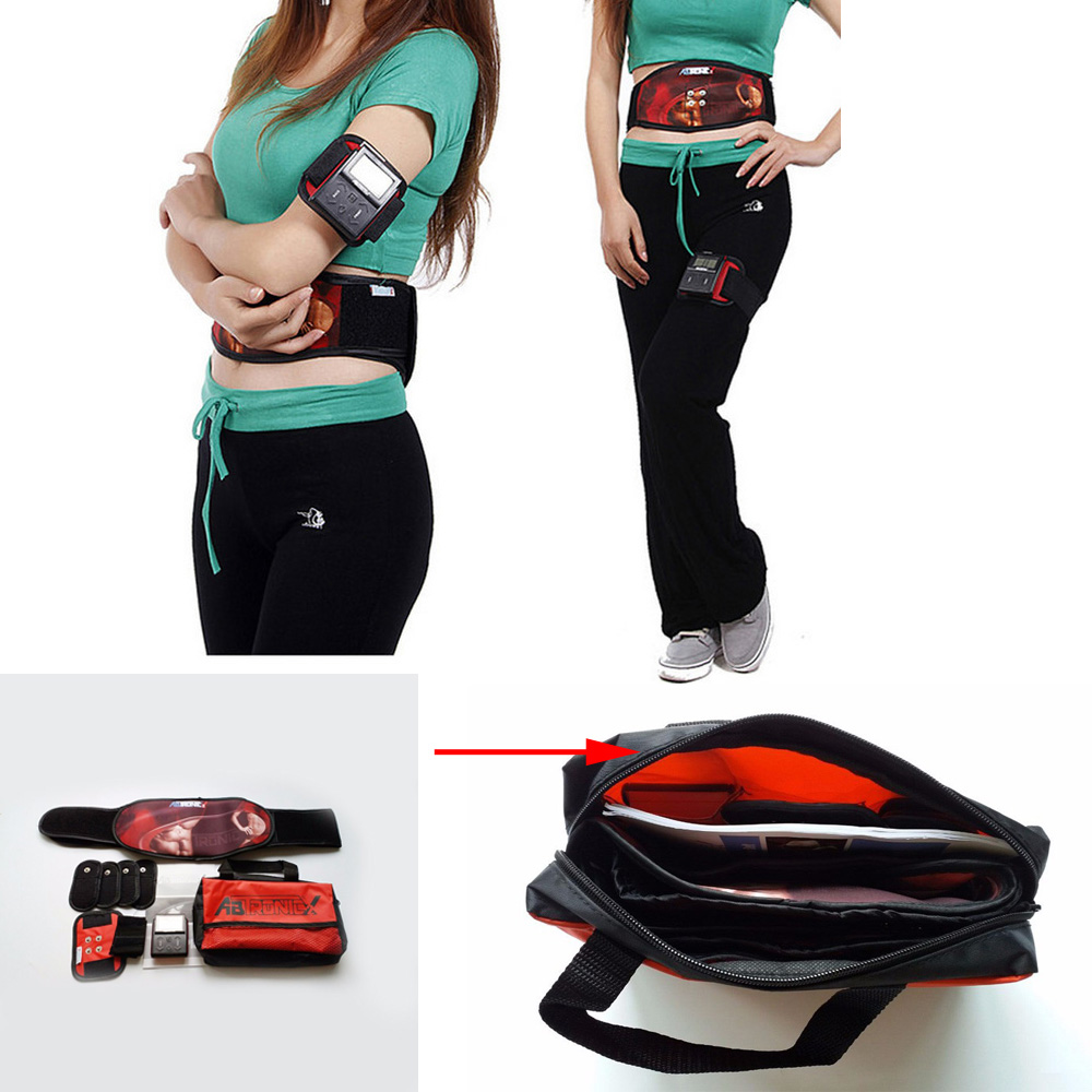 Dual Channels Electric AB gym x2 Muscle Stimulator Burner Toning Abdominal fitness abdomen fat burning belt