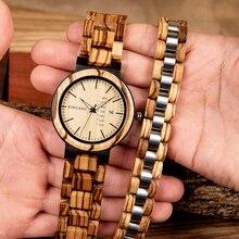 reloj hombre BOBO BIRD Men Watch Wooden Bracelet Nature Wood