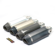 цена на 38-51mm Stainless Steel Silencer Exhaust System Modified Motorcycle Exhaust Muffler Pipe With DB Killer