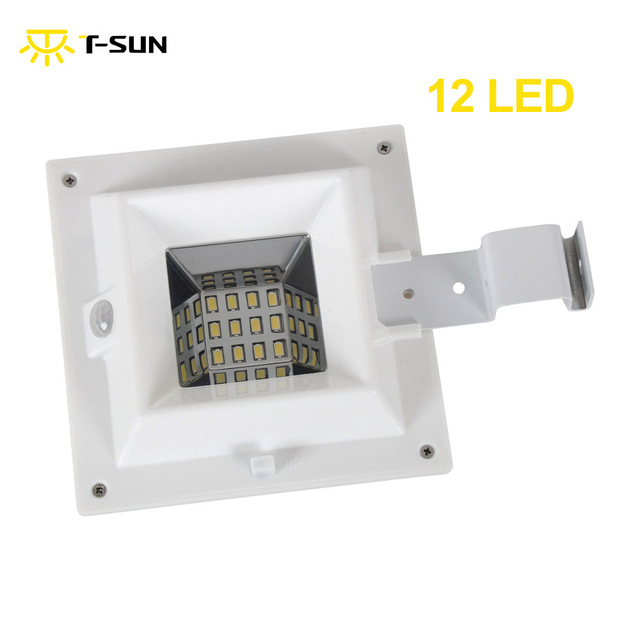 T sunrise 12 leds solar gutter light with motion sensor outdoor t sunrise 12 leds solar gutter light with motion sensor outdoor lighting spotlight solar ip44 aloadofball Image collections