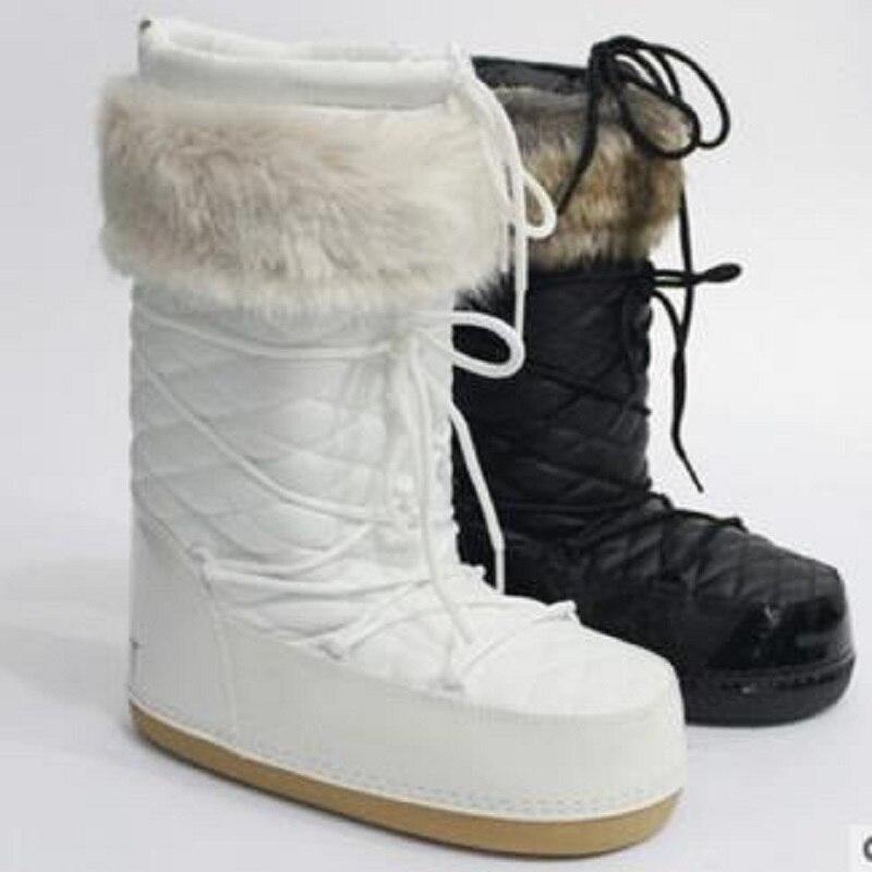 En blanc Plus Femmes Coton Bottines Hiver Automne Bottes Chaussures Pour 2018 Noir Et Neige Velours Peluche Mobeini D'hiver Dentelle Nouveau JFK31cTl