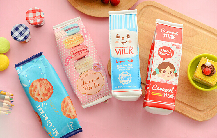 kawaii Oreo Canvas Pouch  snack cookie cookies food sweet accessory makeup bag pencil case dessert cake cute