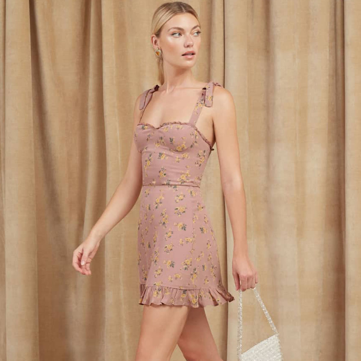 4448d3f2b7c9f Christine Pink Mini Dress Women 2019 Summer Sleeveless Bandage Strapless  Sexy Dress Ladies Ruffles Backless Elegant Short Dress