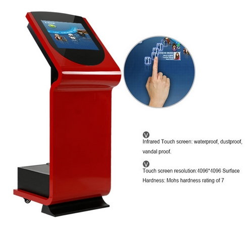 Floor Standing Display AD Player 19 Inch Network Standalone Interactive Wifi Stand Ad Player  Machine