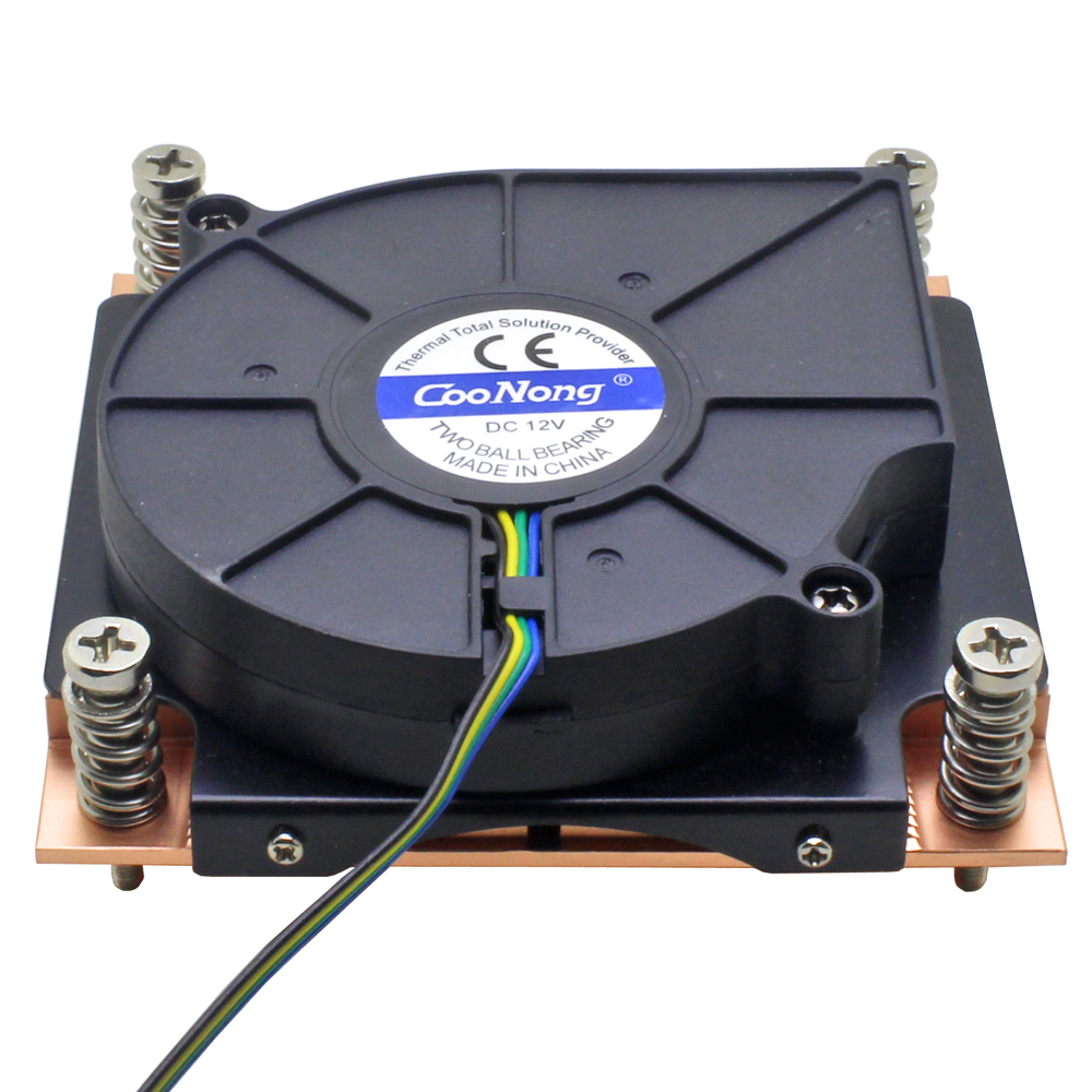 1U Server CPU Cooler Copper Heatsink 7515 Blower Cooling Fan For <font><b>Intel</b></font> Core Xeon LGA 1155 1156 1150 1151 Industrial Computer image