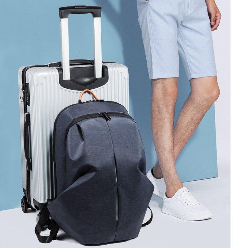 Grande capacité porte pour homme sac étanche sacs à dos décontractés homme USB sac de voyage de charge - 5