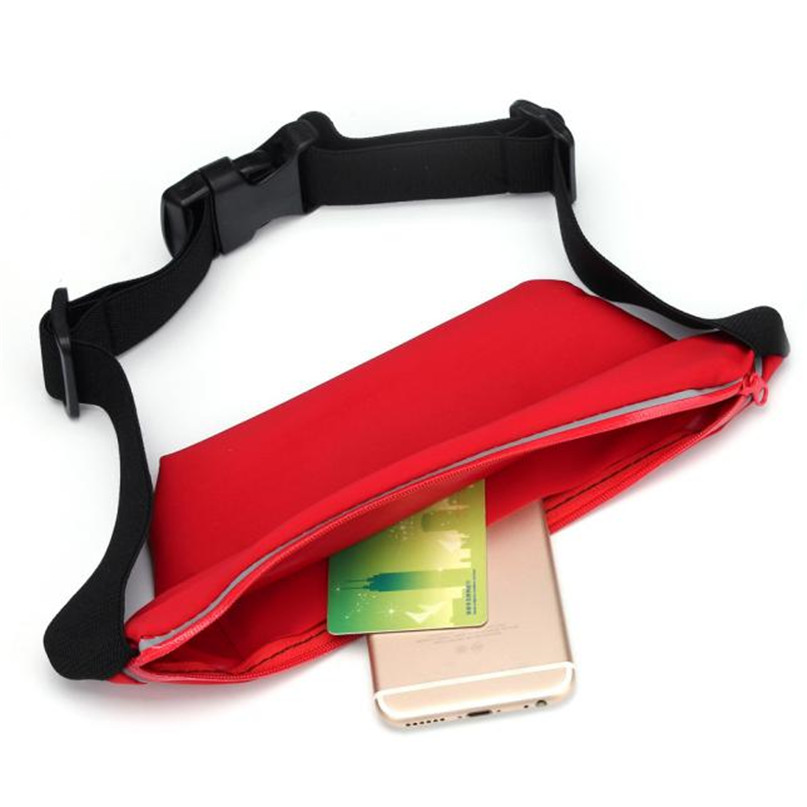 Outdoor Sports Running Waist Bag Utility Gym Fanny Pack Fitness Jogging Belt Bags 5.5 inch Cell Phone Pocket for Men Women #2a (8)