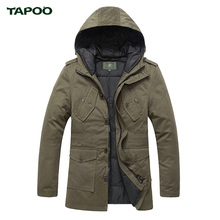 TAPOO Winter Jacket Men Casual Cotton Thick Warm Coat Men's Outwear Parka Plus size 4XL Coats Windbreak Snow Military Jacket