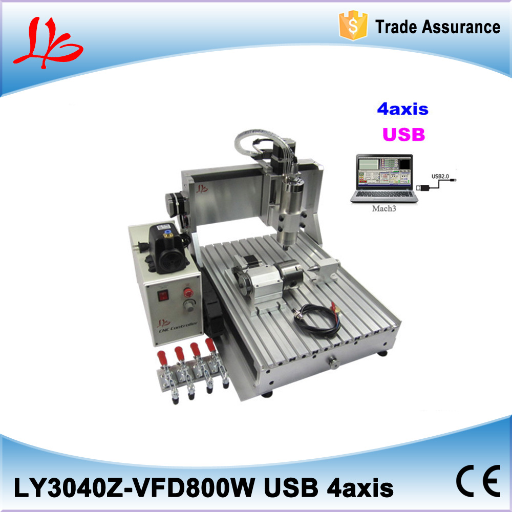 ship from EU, tax free Small MINI engraving machine 4 axis CNC Router 3040 800W with limit switch