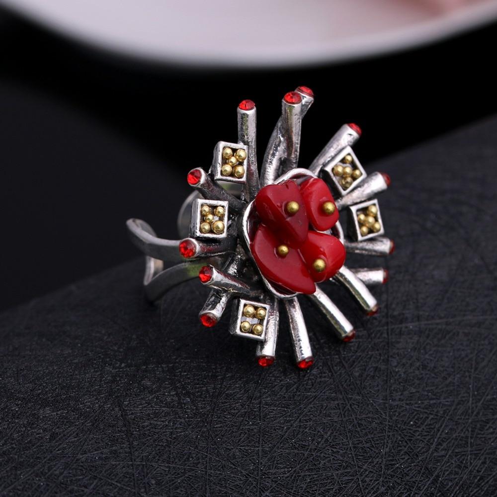 JUJIE Mode Trouwringen Kristal Steen Voor Vrouwen 2019 Sieraden - Mode-sieraden - Foto 3