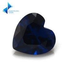 Голубой камень в форме сердца синтетический шпинель голубой