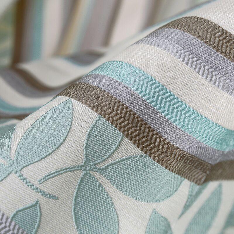 Jakarlı Perdeleri Bitmiş Dalga Noktası 3 Renk Çizgili Perdeleri - Ev Tekstili - Fotoğraf 3