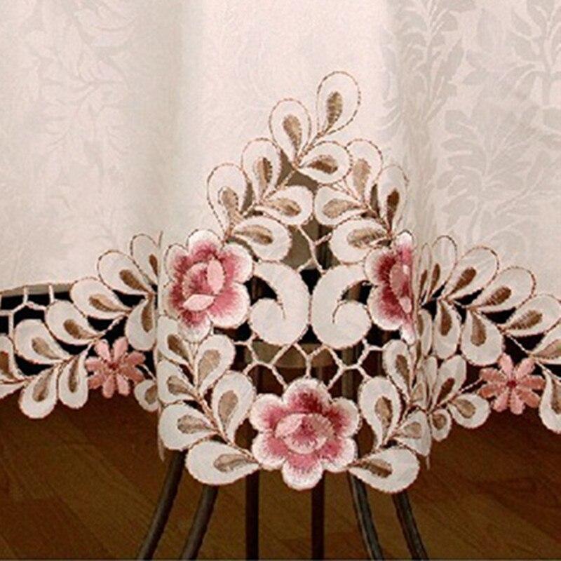 Europski Elegantni Poliester Vez za stolnjak Vezeni cvjetni kroj za - Tekstil za kućanstvo - Foto 3