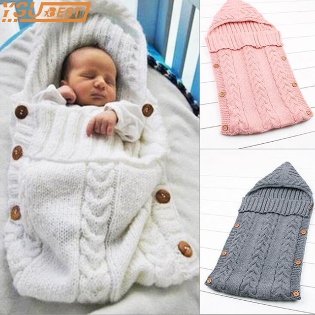 9b2ceaf4e Newborn Shoot Winter Kids Knit Blanket Swaddle Sleeping Bag Sleep ...