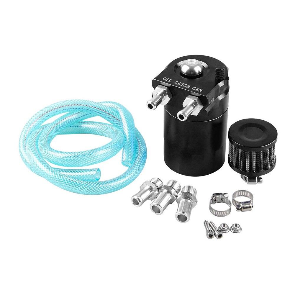 Cylindre aluminium moteur huile capture réservoir reniflard réservoir avec filtre noir