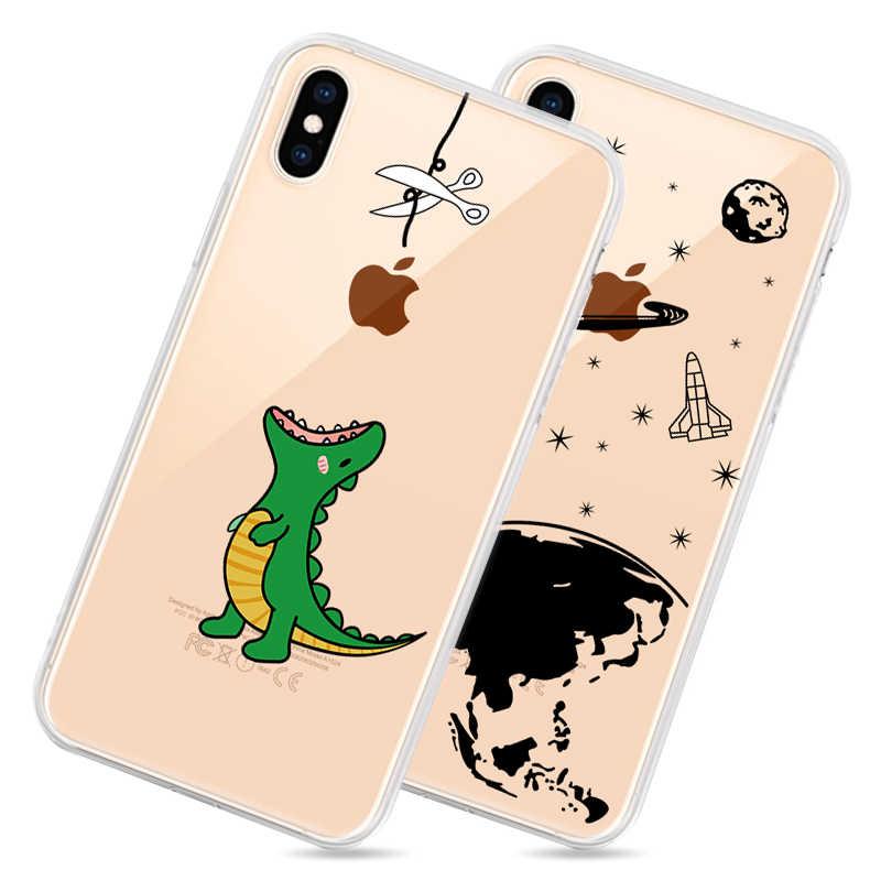 Trong Suốt TPU Ốp Lưng Điện thoại Iphone XS Max XS XR 8 7 6 6S Plus 5 5S SE Ốp Lưng Silicone Dành Cho iPhone XS Max XS XR