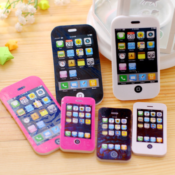 2018 new 1pcs iPhone modeling Students Pen Shape Eraser Rubber Stationery Kid Gift Toy School Supplies Office series wholesale Eraser
