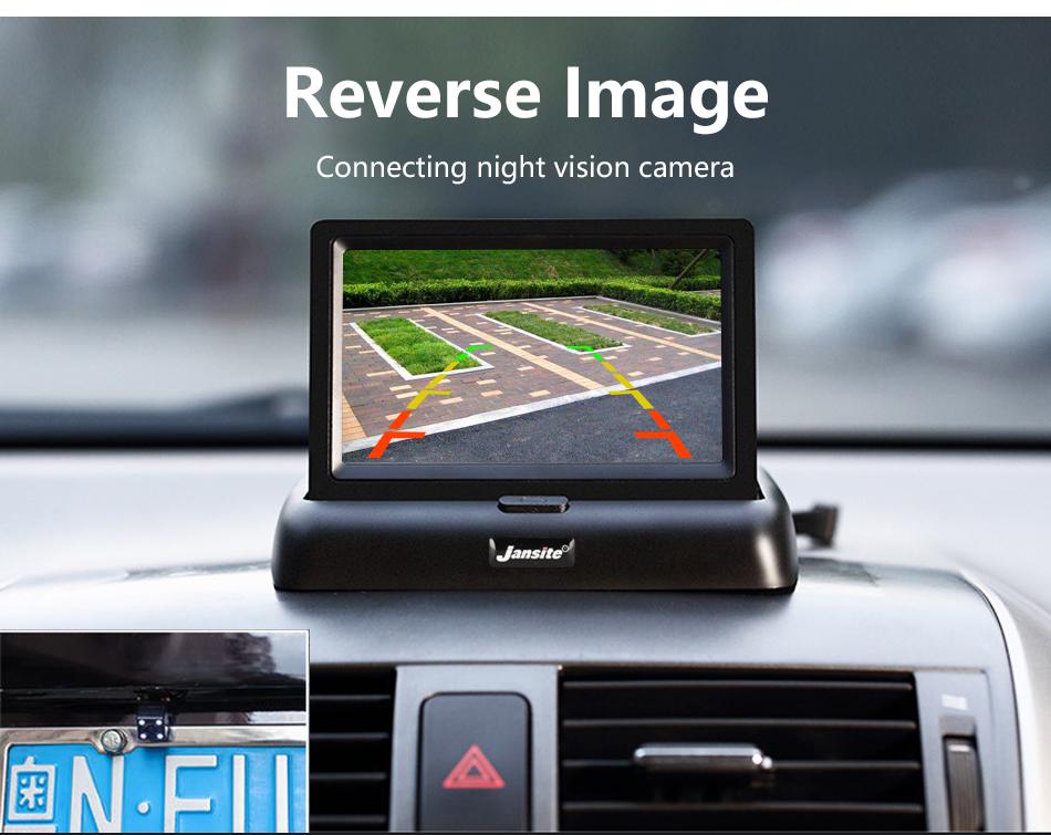 """Jansite 4,3 """"monitor de coche TFT LCD cámara de visión trasera. 5"""