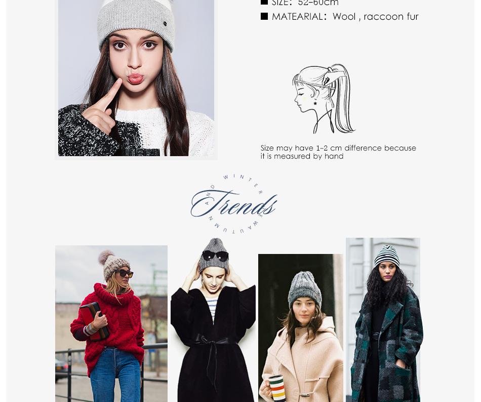 Winter Hat For Women MZ744 (3)