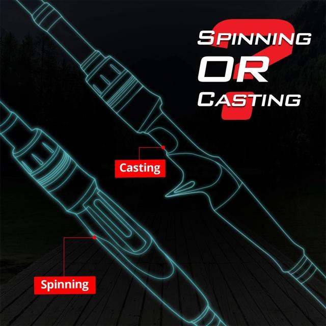 KastKing Blackhawk II Carbon Spinning Casting Rod M, MH Power Ultralight Telescopic Fishing Rod