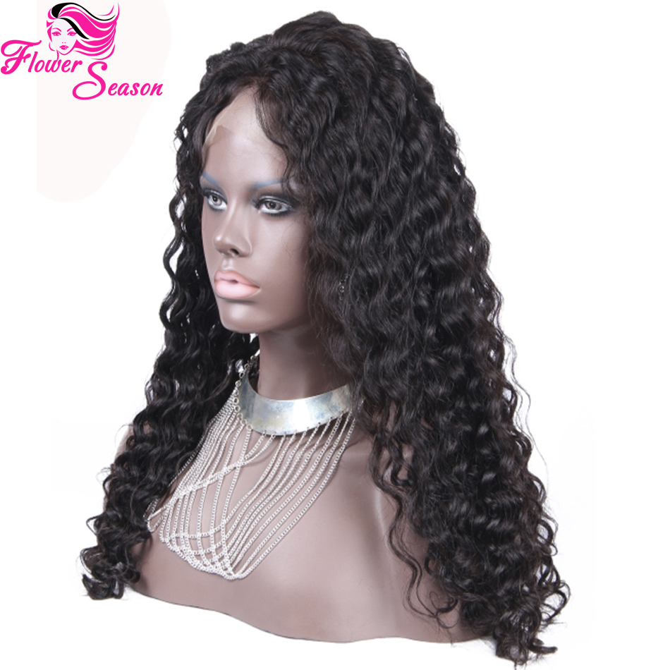 f59d089cb096 Free Parting Curly Silk Top Glueless Full Lace Wigs Peruvian Human Hair  Silk Top Lace Front Wig With Natural Hairline on Aliexpress.com