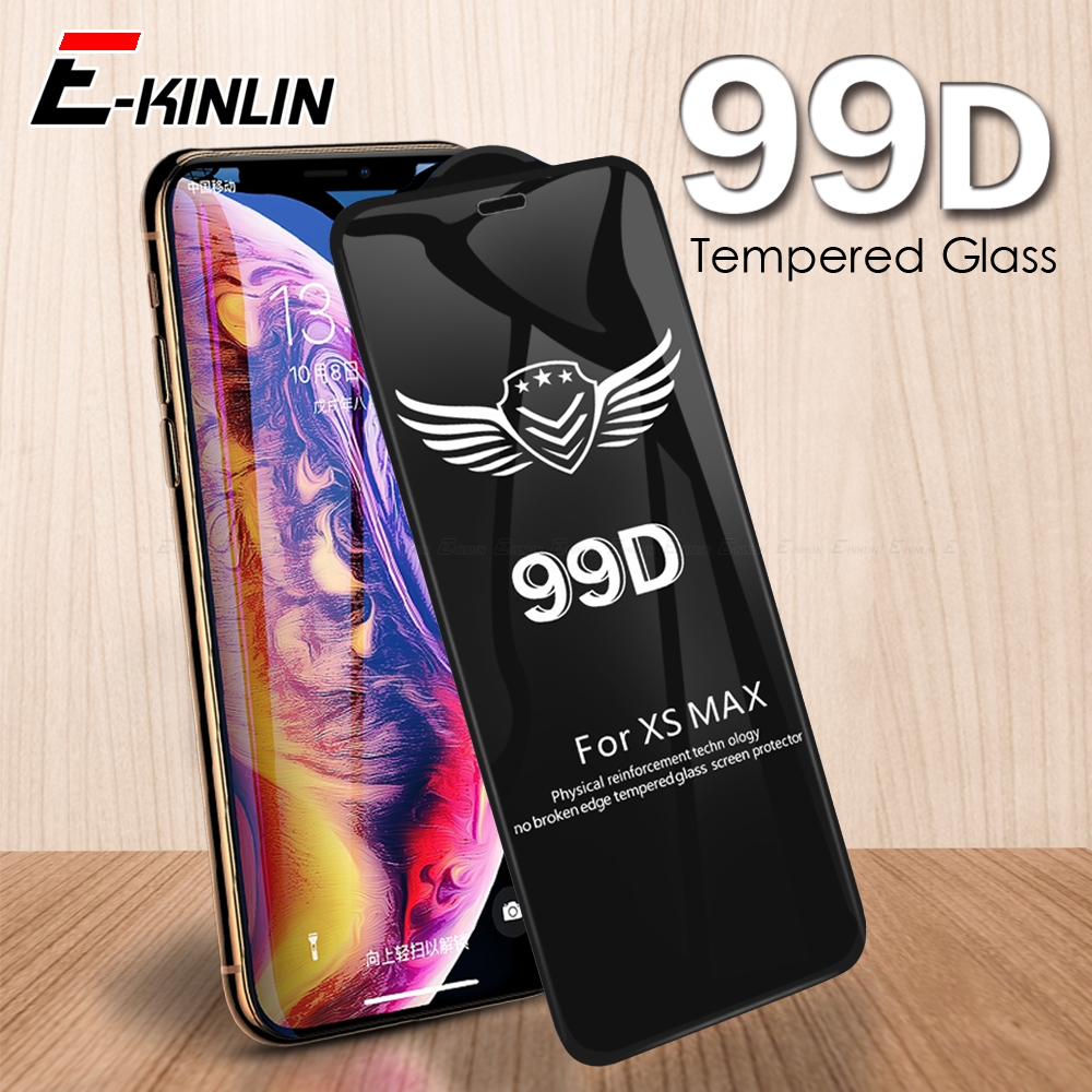99D Full Cover Protective Glass On The For IPhone X XR XS 11 Pro Max 6 6s 7 8 Plus Curved Edge Screen Protector Tempered Glass