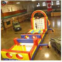 1000d 0.55mm pvc jumping bouncy castle for kids,13*3.5*4m inflatable obstacle course for amusement