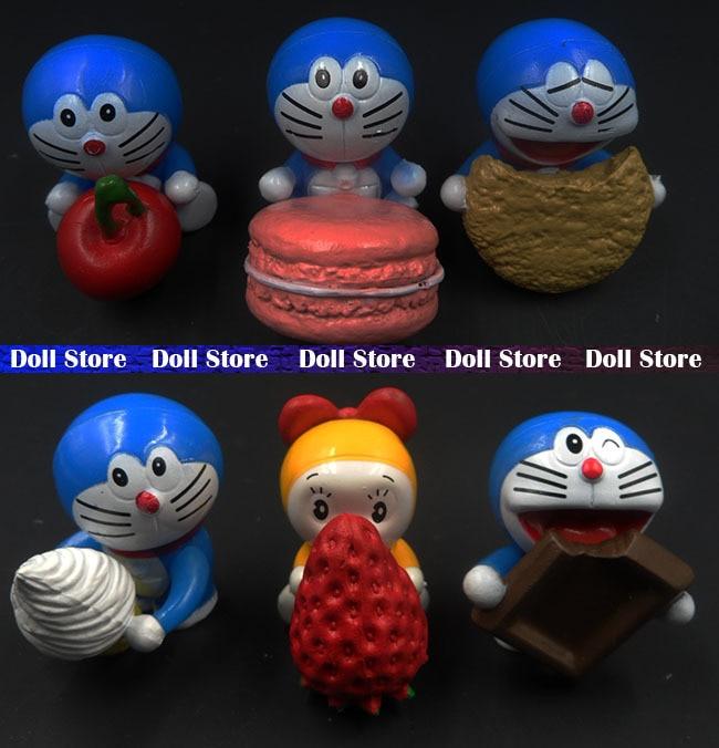 93f2a3e0692 6 unids lote nueva 4 cm Doraemon PVC figura japonesa del anime los mejores  juguetes de los cabritos para las muchachas figura de acción conjunto