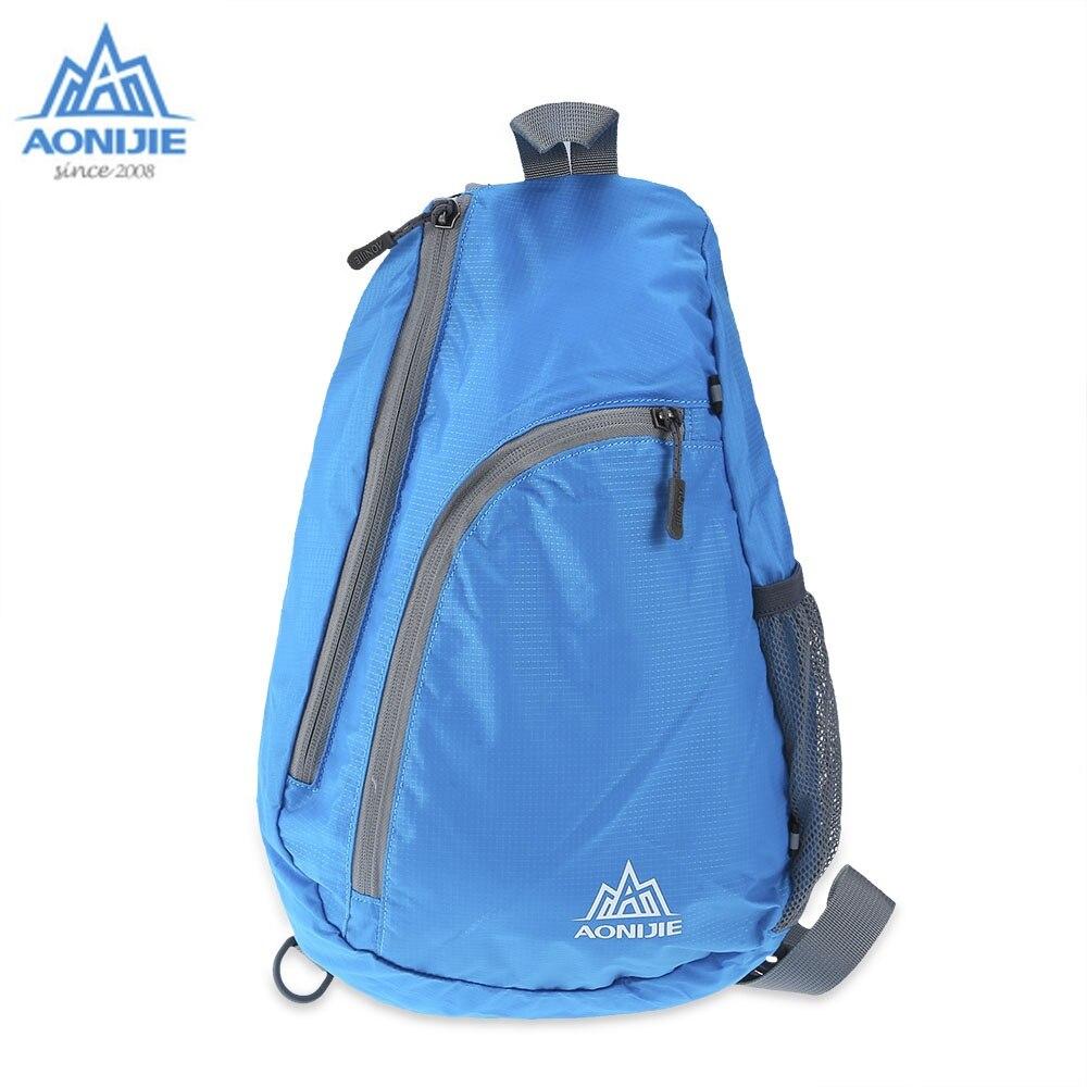 Prix pour Aonijie sling poitrine sac top qualité imperméable à l'eau en nylon épaule simple sac à dos porateble ruuning sacs