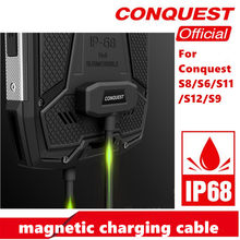 100% Original magnetic cable for CONQUEST S6/S8 /S9 / S11 / S12 fast charging for Rugged smartphone USB magnetic charging cable(China)
