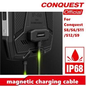 Image 2 - 100% Orijinal manyetik kablo CONQUEST S6/S8/S9/S11/S12 için hızlı şarj güçlendirilmiş akıllı telefon USB manyetik şarj kablosu