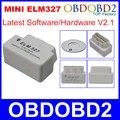 Лучшее Качество Супер Мини ELM327 Bluetooth OBD2 OBDII ELM 327 V2.1 Автомобиля Диагностический Сканер Инструмент Работает На Android Symbian Windows