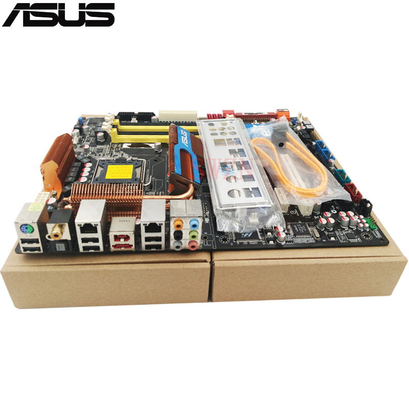 original Used Desktop motherboard For ASUS P5Q Deluxe P45 Support Socket LGA 775 Maximum DDR2 16GB SATA2 USB2.0 ATX asus g31m s support ddr2 775 pin integrated small board g31m g31 motherboard