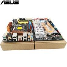 original Used Desktop motherboard For ASUS P5Q Deluxe P45 Support Socket LGA 775 Maximum DDR2 16GB SATA2 USB2.0 ATX