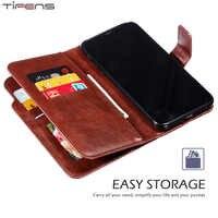 Portefeuille rétro Flip carte Stand couverture de luxe en cuir étui pour iphone 11 Pro X XR XS MAX 5 6 6s 7 8 Plus 5s SE 8 Plus téléphone Coque sac