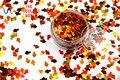 TCA401 Luz Láser de Color Cobre Goldfish 6 MM Tamaño Del polvo Del Brillo, especular brillo brillo para uñas tatto,, Arte decoración y otros