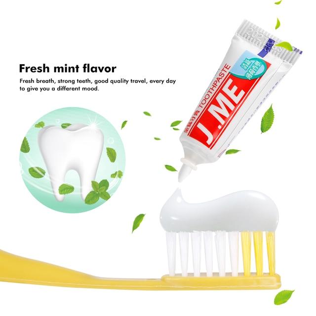10/5/2/1 Sets Hotel portátil desechables cepillo de dientes con pasta de dientes Kit de Casa conveniente de viaje de plástico de los dientes herramienta de limpieza de los adultos
