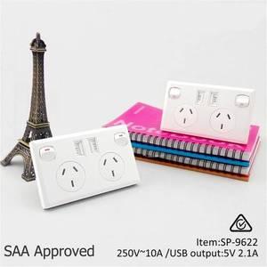 Image 5 - Đôi USB 2 Công Tắc Điện Ổ điện Úc ÂU Cắm Điện Gia Đình Điểm Cung Cấp Đĩa Nhà Cải Tiến Dụng Cụ