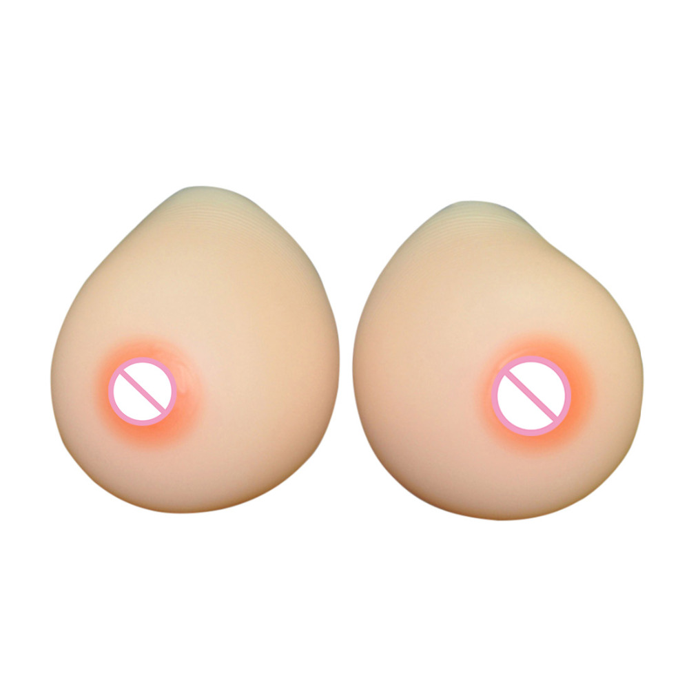 Forme de sein réaliste poitrine en Silicone pour Crossdresser mastectomie seins en Silicone prothèse insérer coussin de rehausseur de couleur de peau