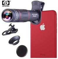 APEXEL Universal 18x25 Monocular Zoom HD Optical Cell Phone Lens Observing Survey 18X Telephoto Lens With