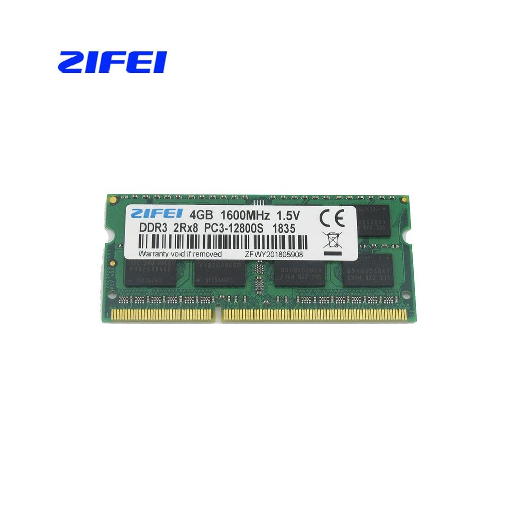 ZIFEI DDR3 RAM 2 GB 4 GB 8 GB 1333 MHz a 1600 Mhz, 1,5 V y 1,35 V la memoria del ordenador portátil así que dimm