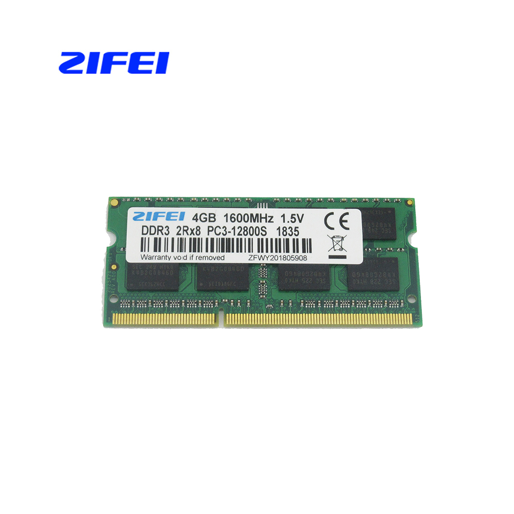 ZIFEI DDR3 RAM 2GB 4GB 8GB 1333 MHz 1600Mhz 1.5V&1.35V Laptop Memory so dimm