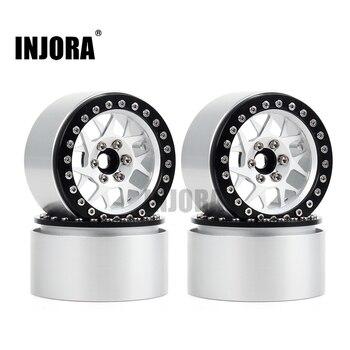 INJORA 4PCS CNC Aluminum 2.2 Beadlock Wheel Rim for 1/10 RC Crawler Car Axial SCX10 RR10 Wraith Traxxas TRX4 TRX-6 1
