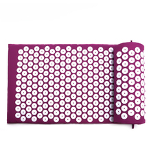 Acupuncture Massage Cushion Mat Acupressure Relieve Back Body Pain Flower Spike & Pillow