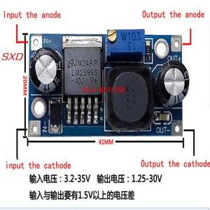 Image 1 - 100 ピース/ロット LM2596S LM2596 LM2596S ADJ 電源モジュール DC DC 降圧モジュール 5 V/12 V/24 可変電圧レギュレータ 3A