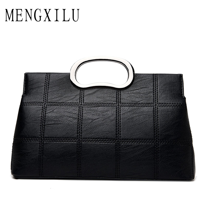 MENGXILU Woman Pu Leather Handbags Fashion Women Bag Luxury Brand PU Leather Women Messenger Bags Soft Brand Crossbody Bag