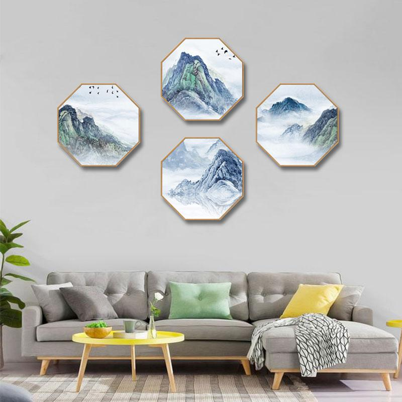 Creative octagonal home decorative painting Abstract landscape bedroom restaurant corridor mural Hotel