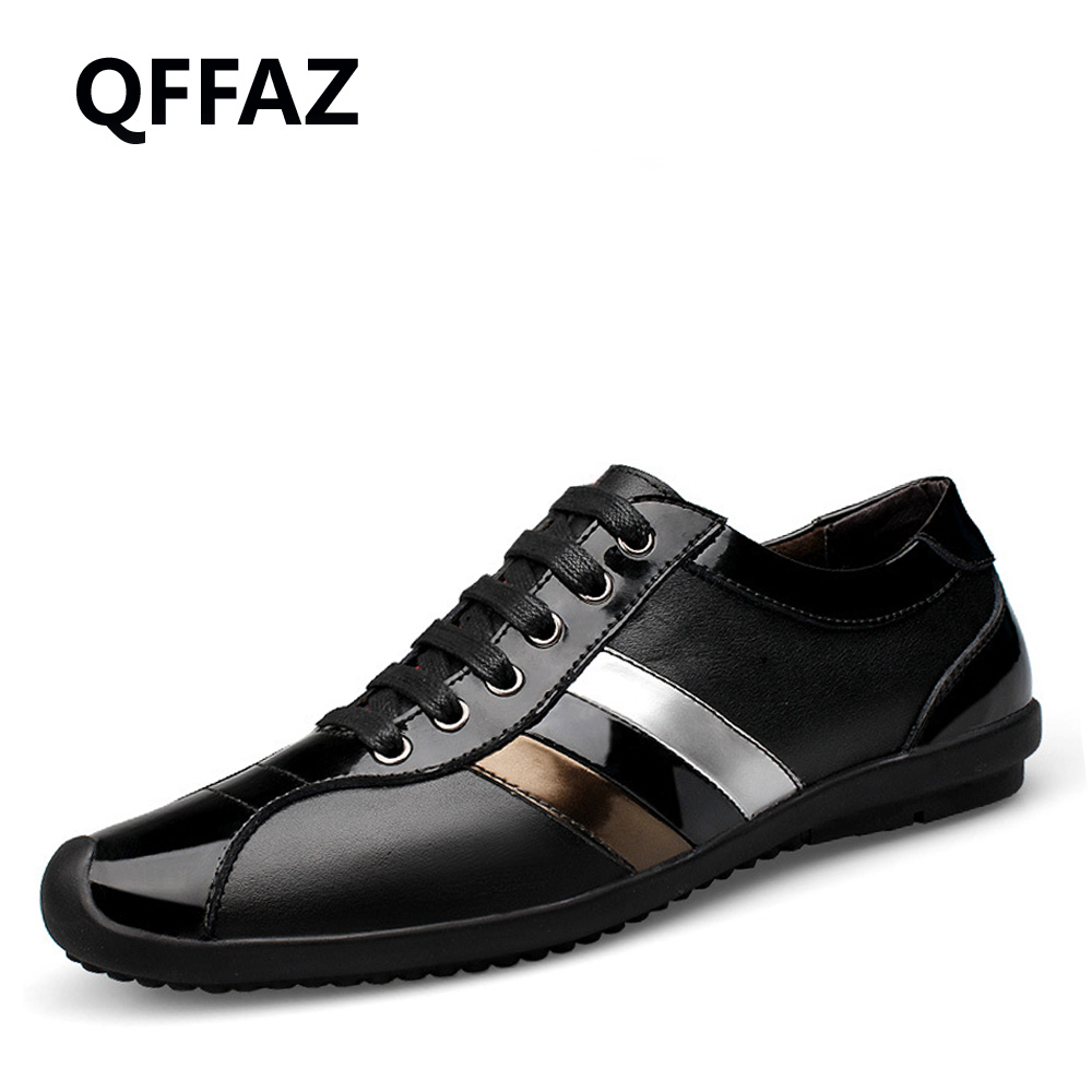 QFFAZ New Casual Shoes Mens Genuine Leather Flats Lace-Up Shoes Fashion Male Shoes Large Sizes 38-46 Oxford Shoes For Men new 2017 summer brand casual men shoes mens flats luxury genuine leather shoes man breathing holes oxford big size leisure shoes