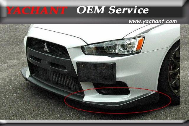 Carbon Fiber Front Bumper Cover 2Pcs Fit For 2008 2012 Mitsubishi Lancer  Evolution EVO 10